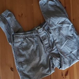 Old Navy Gray Twill Jogger Draw String Pants SP